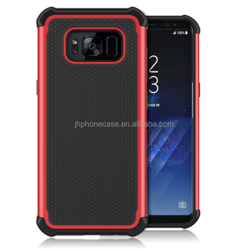 Shockproof triple layers football defender silicone case for Galaxy S8