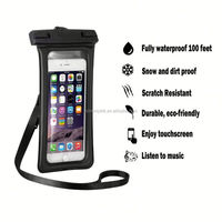 E024 Cheap pvc phone waterproof case / cell phone waterproof dry bag / floating waterproof phone bag
