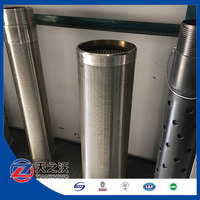 Water well drilling used Johnson stainless steel pipe filter screens
