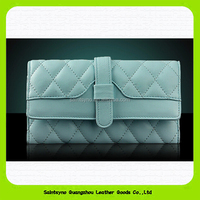 European style high class leather wallet genuine skin wallet for women 15558