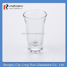 LongRun customised shot glasses clear horn glass made in china ,6-pack