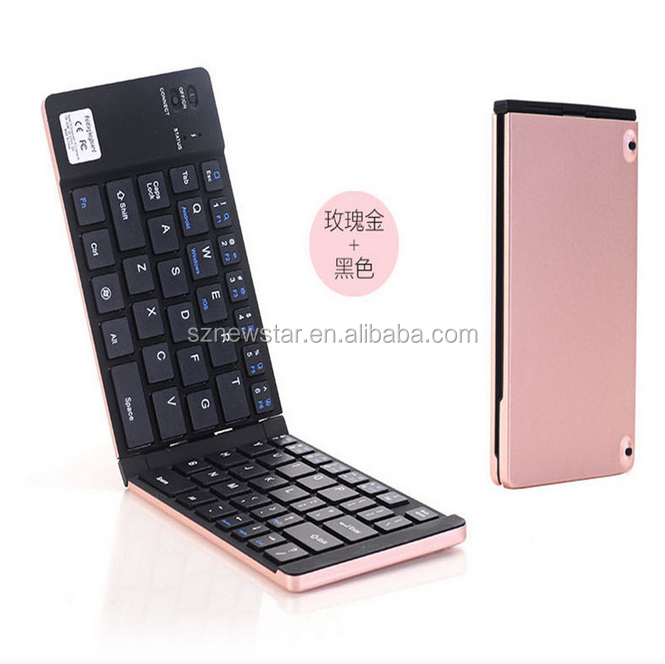 Newstar Aluminium bluetooth mini wireless keyboard for iPad Air tablet PC sample available