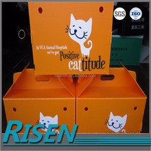 Custom printing pet box made of corflute plastic sheet and corrugated plastic board