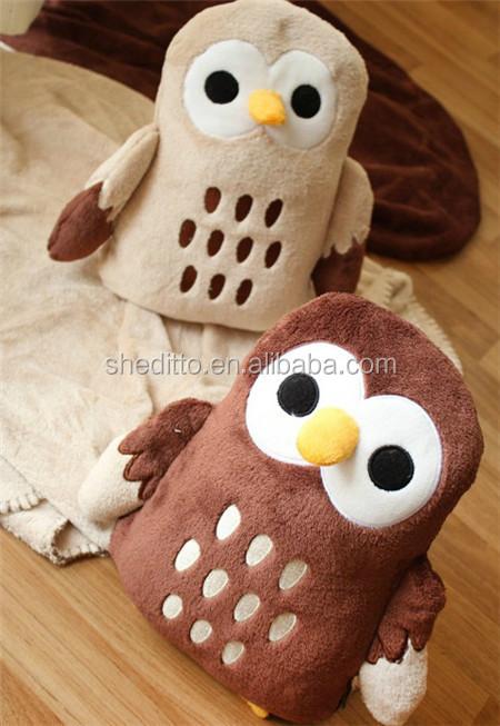 Convertible Blanket Transform Into Plush Owl Toys Multi ...