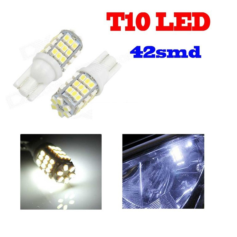 White 6000K T10/921/194/W5W RV Trailer 12V LED Lights Bulbs 1206 42 SMD led car light