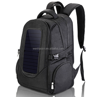 2016 Hot sale 1680D charger bag, solar panel black backpack