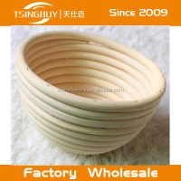 Tsingbuy hot sell 100% natural rattan cane round bread proofing baskets/proving baskets/cheap wicker bread baskets