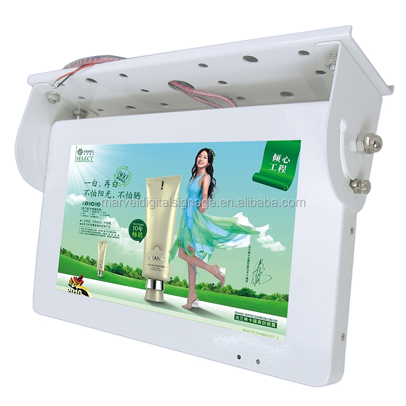 19inch 22inch cute size white bus lcd digital media display with network 3G advertising signage display