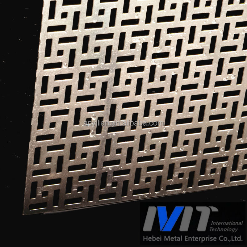 New Styles Aluminum Exterior Perforated Panels for wall decoration