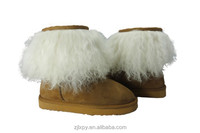 Cut fur lined brand name winter boots
