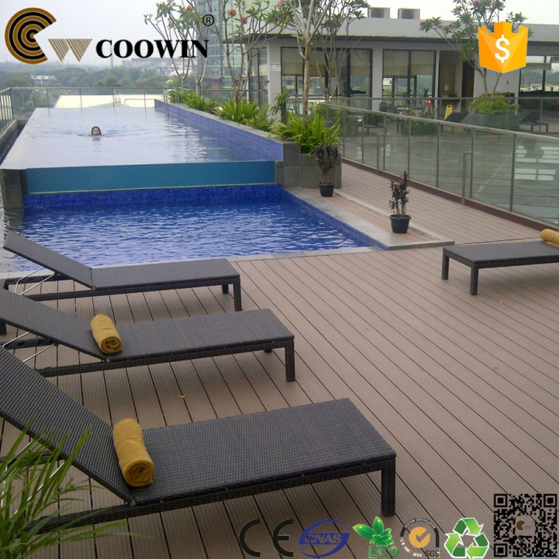 Above Ground Swimming Pool Used Resistant To Slid Plastic Wooden Decking Buy Plastic Wooden