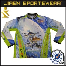 Customized wholesale sport clothes for fishing cheap blank 100% polyester fishing clothing