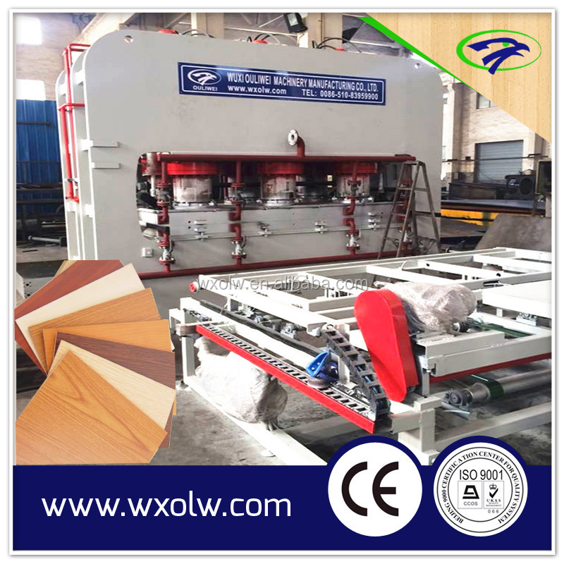 short cycle Plywood lamination press machine 1600t hydraulic Hot Press Machine