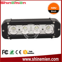 Water resistant 8 Inch 40W Single Row LED Light Bar For Off - road , bulldozer , crane