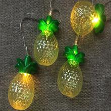 Fruit Pineapple Shaped Decoration Battery Led String Light
