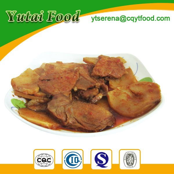 Ready to Eat Tinnned Sliced Pork with Bamboo Shoots