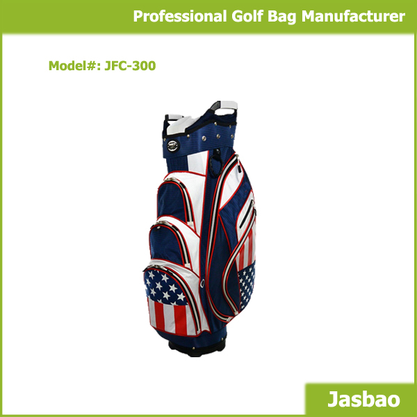 2015 Hot Selling Unique Golf Cart Bag With The American Flag
