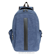 The new 2016 trendy leisure men's bags canvas simple computer travel backpack