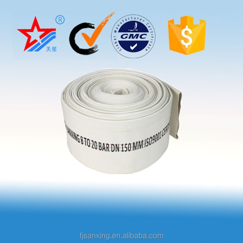 fire fighting supplies, 6 inch rubber lined canvas hose for fire fighting