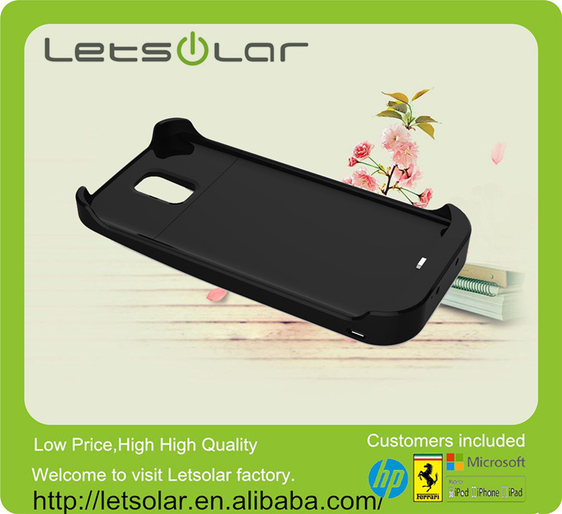 China wholesale promotion gift 4000mAh solar power phone case for Samsung Galaxy S5