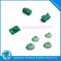 Custom molded silicone rubber component