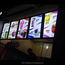 high quality led wall hanging menu display fast food restaurants display restaurant lighted menu board