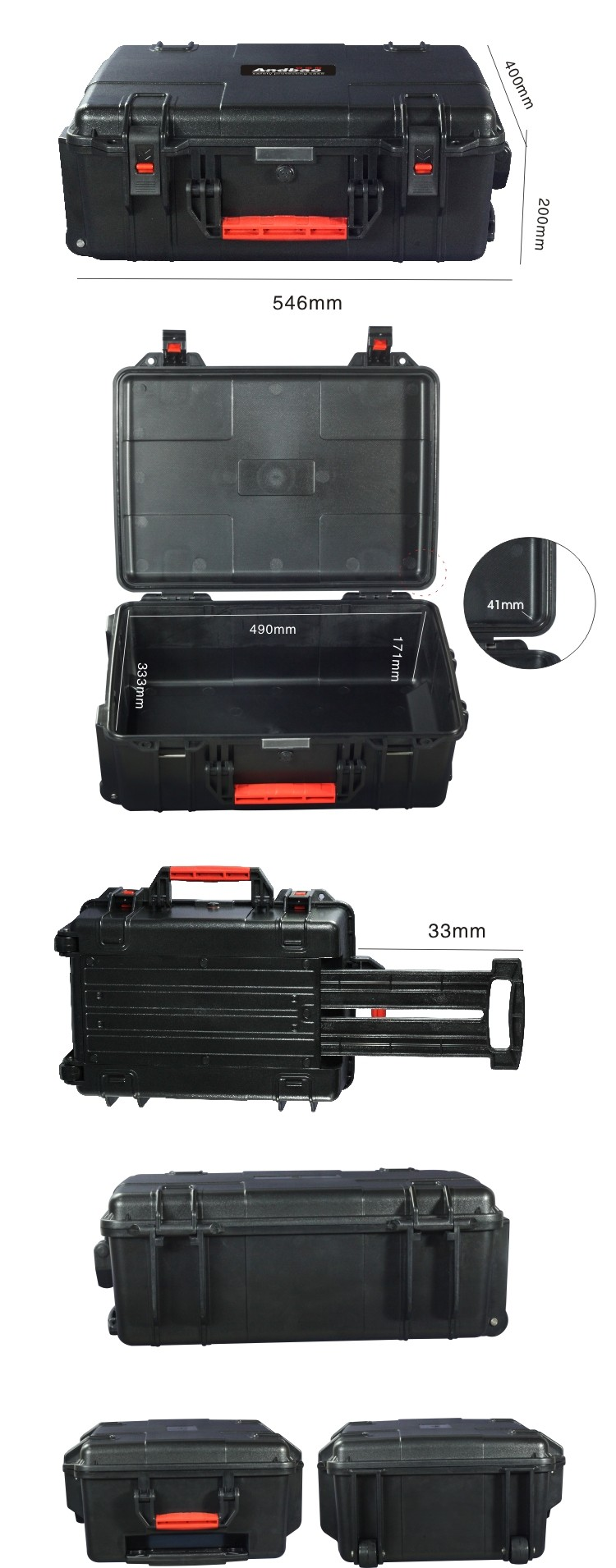 Hard Plastic Instrument equipment tool Case