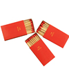 Custom red head matches accept personal logo prining wedding matches