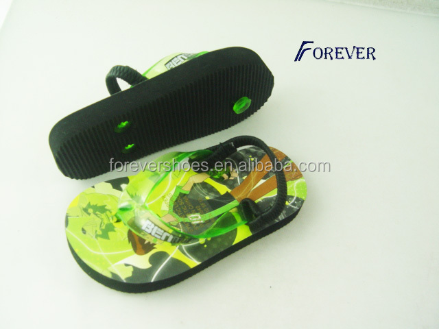 Cartoon kids rubber flip flops, beach flip flop