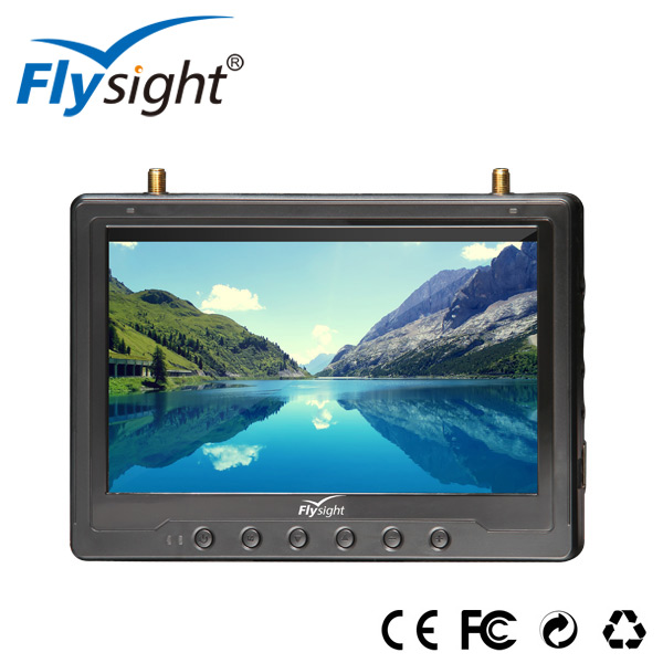 C322 Shenzhen Flysight New Product 7 inch fpv Monitor RC801 Black Pearl DHMI Diversity Monitor made in China