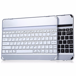 Wireless Aluminum Bluetooth Keyboard For iPad Air 1 Case Silver Black Cover for iPad Air 2 Keyboard Stand Cover