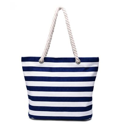 wholesale rope handle 12oz canvas cotton tote beach bag factory