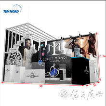 Fashion jewelry display exhibition booth stand for trade show