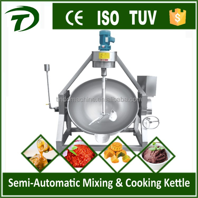 Industrial tilting stirring cooking pot