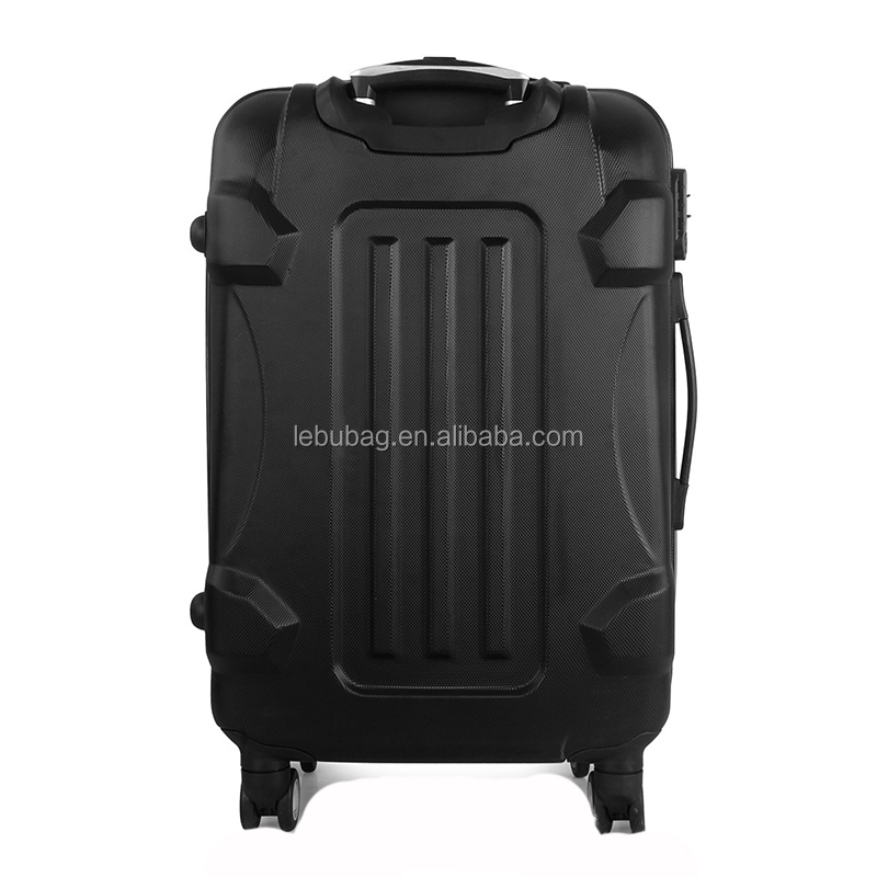 Guangzhou Wholesales Solid Color Hand Carry-on Suitcase ABS Trolley Luggage Case 20/24/28 Inch with Wheels