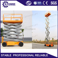 Strong playwood case self propelled 5 ton hydraulic scissor lift with the best quality