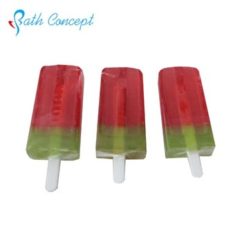 Children popsicle watermelon fresh scent bath soap