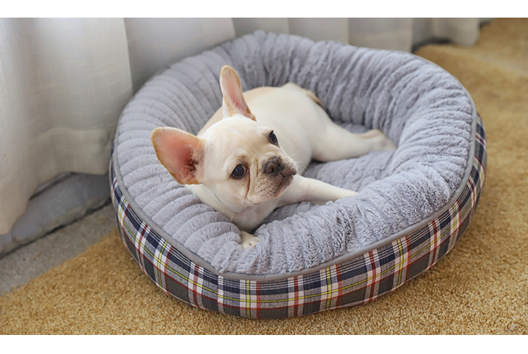 Tianyan Pet Plaid Modern Round Pets Bed Designs,Cozy Round Dog Bed