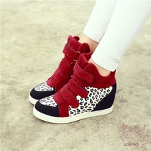 HFR-T1722 spring fashion venta caliente <span class=keywords><strong>leopardo</strong></span> imprenta wedge casual fashion shoes