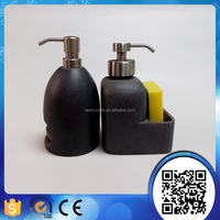 polyresin kitchen liquid soap dispenser with sponge holder