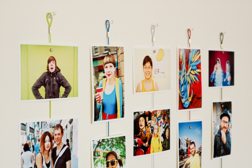 2016 newest Home decoration wall cable photo holder with magnetic function wire magnet hang photo