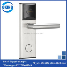 Electronic smart card hotel door mortise lock
