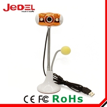 Best factory price orange with 2 LED light free driver usb webcam with mic