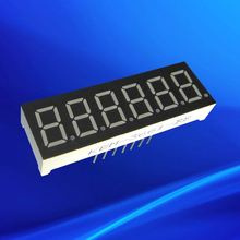 Ultra red 0.36 inch led digital electronics 6 digit 7 segment display 6 digits