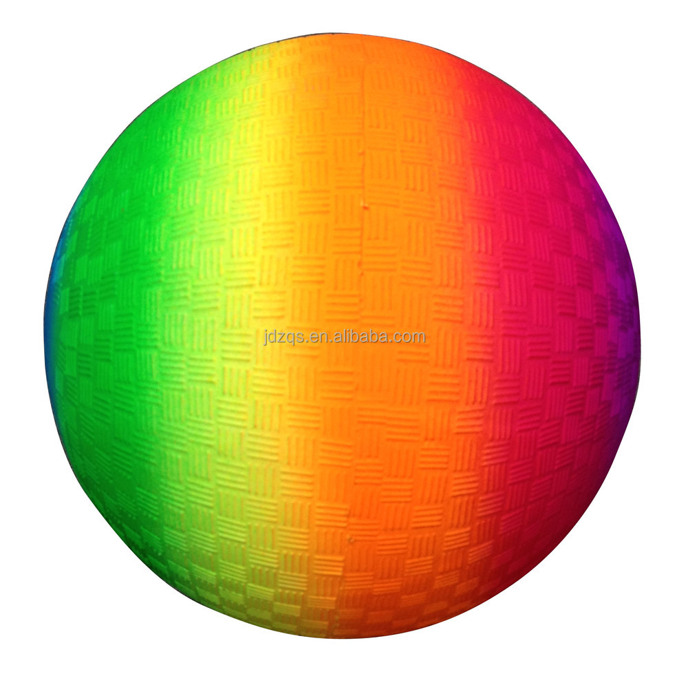 8.5 Inch PVC Rainbow Color Playground Ball
