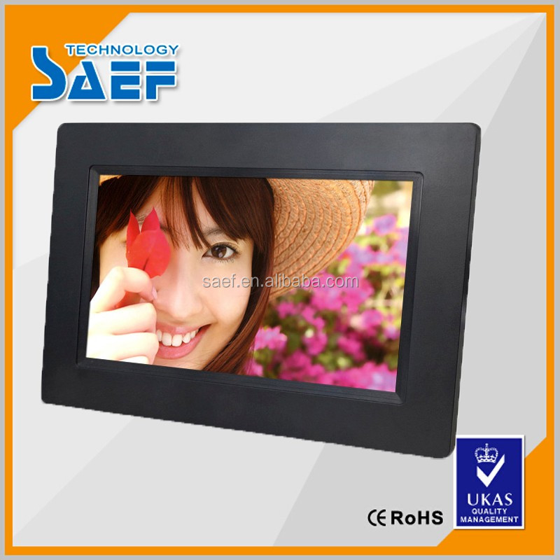 gift lcd touch screen led full hd 7 inch digital photo frame with logo printing
