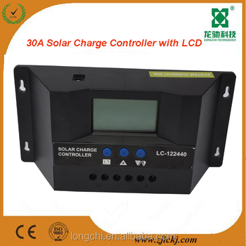 PWM solar charge controller/30 amp charge controller 12v/24v solar charge regulator