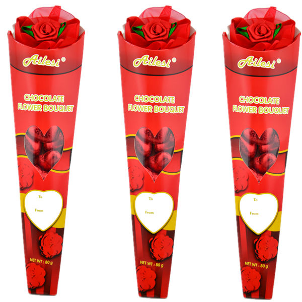 80g Valentine Flower Bouquet Chocolate