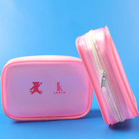 factory new style travel pink pvc waterproof toiletry bag cosmetic packing bag