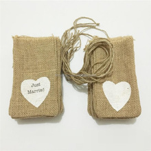 Christmas Eco-friendly Drawstring Small Jute Burlap Gift Bags For Jewelry